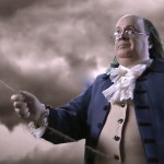 "Ben Franklin impersonator performs in AHC's Documentary, ""America: Facts vs. Fiction"".  #BenFranklinLookalike"