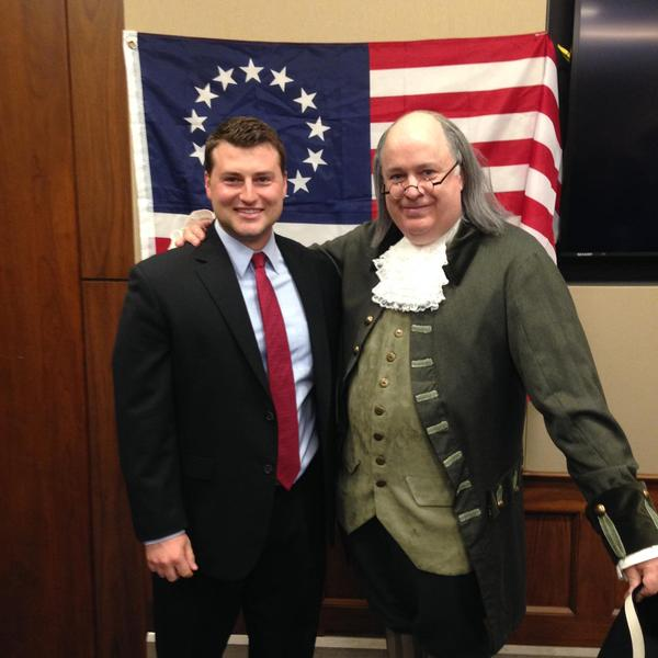 Ben Franklin visits Washington, D.C. (Impersonator & Lookalike).