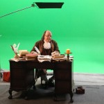 Ben Franklin Look Alike & Impersonator on the set of a Documentary.