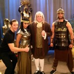 "Ben Franklin impersonator & Look-alike on the set of Disney's ""Kickin' It""!"