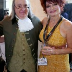 Brains & Beauty @ Philly Convention.  #BenFranklinImpersonator #BenFranklinLookalike